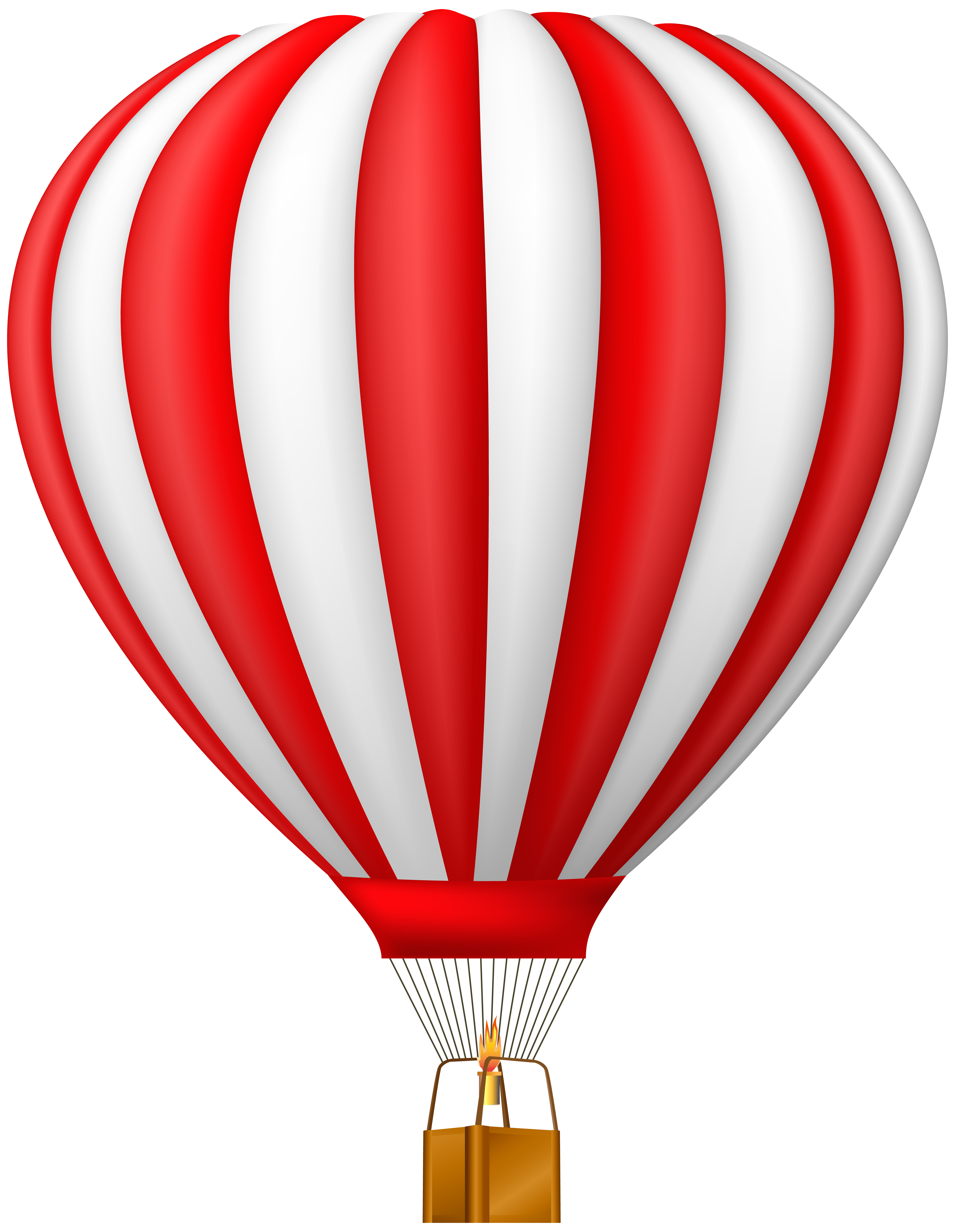 Red clipart hot air balloon. Transparent png clip art
