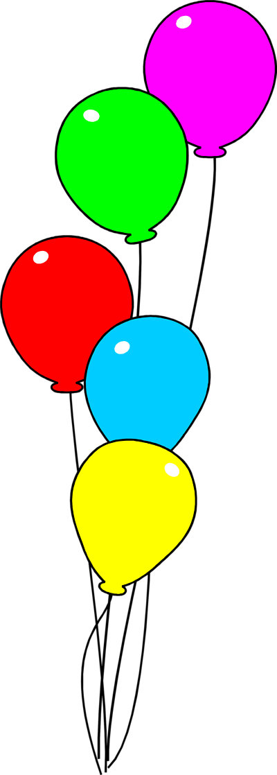 Balloons clear background