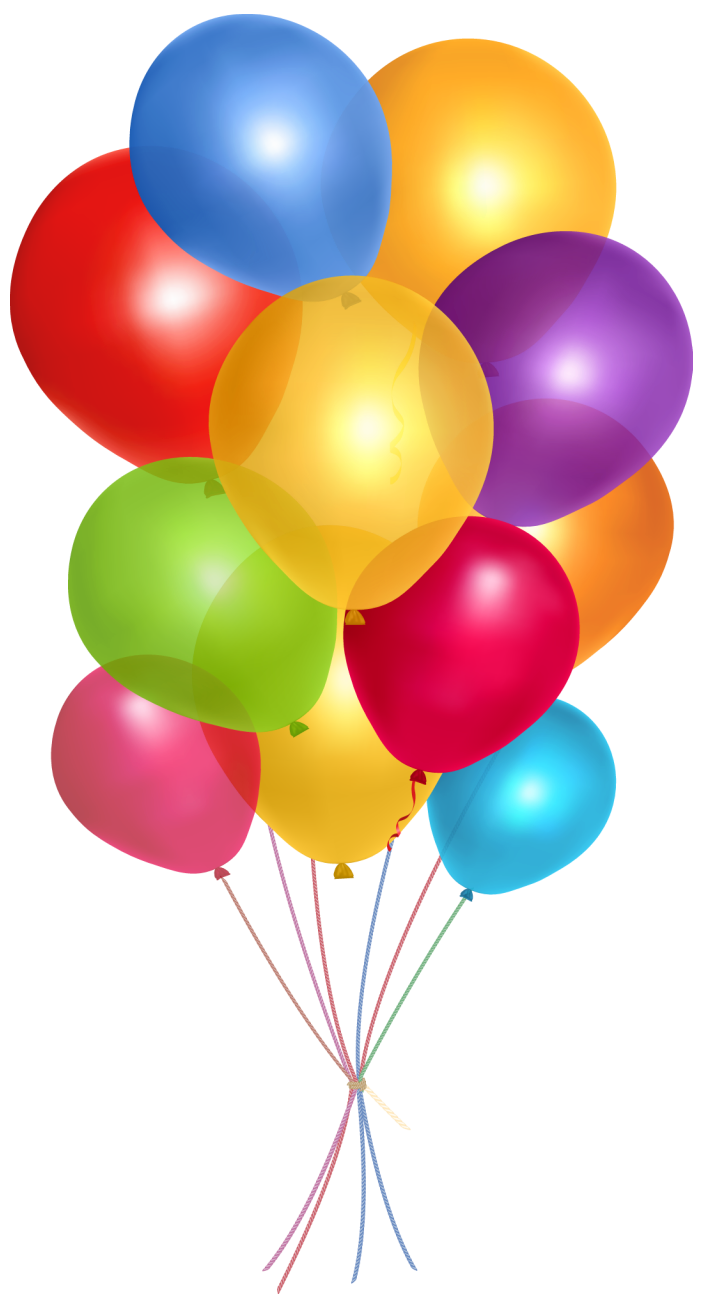 Transparent multicolor balloons png. Clipart balloon clear background