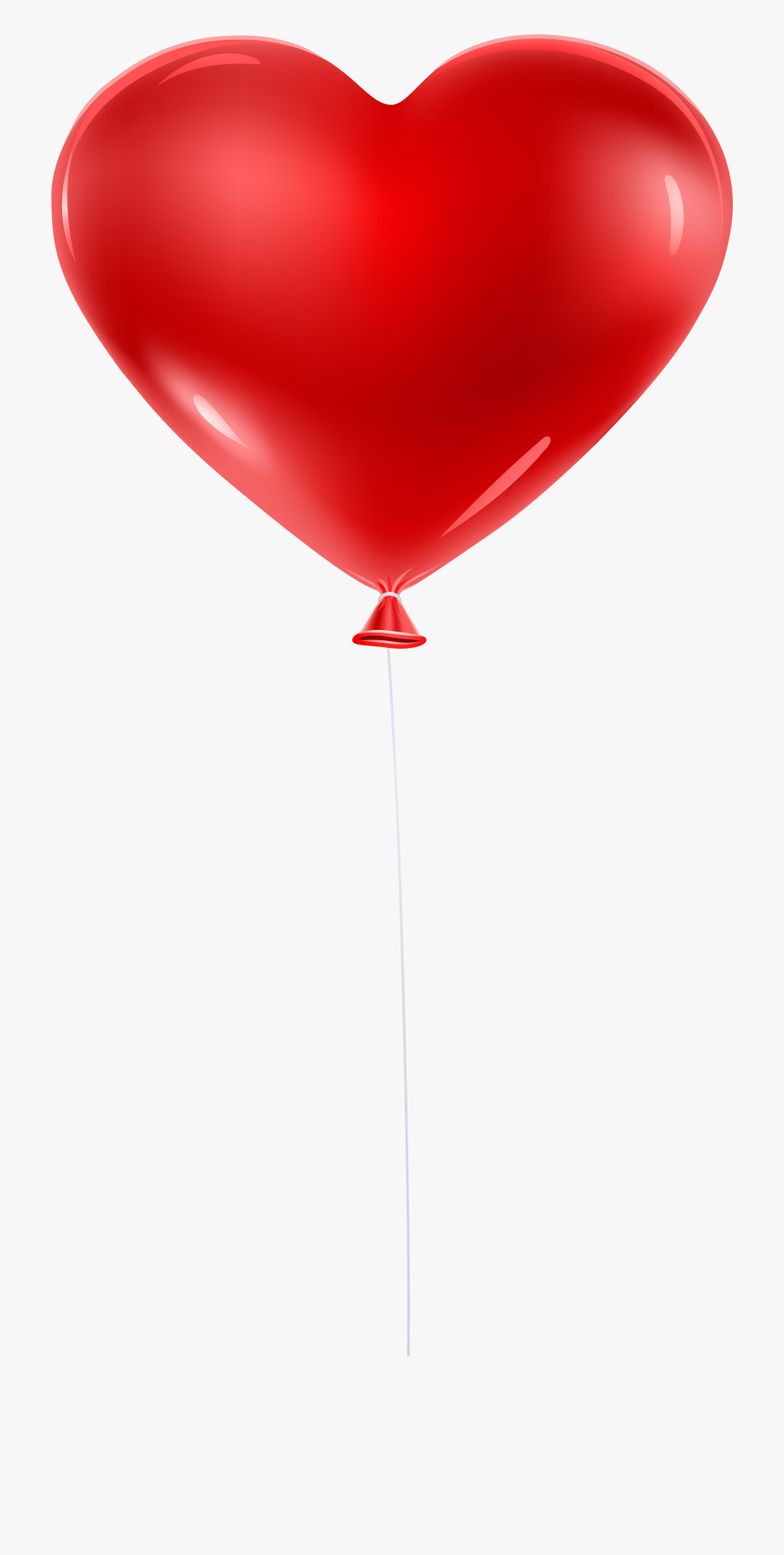 Clipart balloon clear background. Red heart transparent clip
