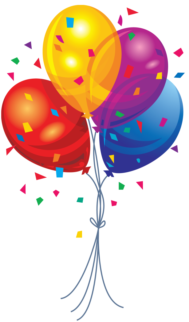 Clipart balloon clear background. Birthday balloons no lacalabaza