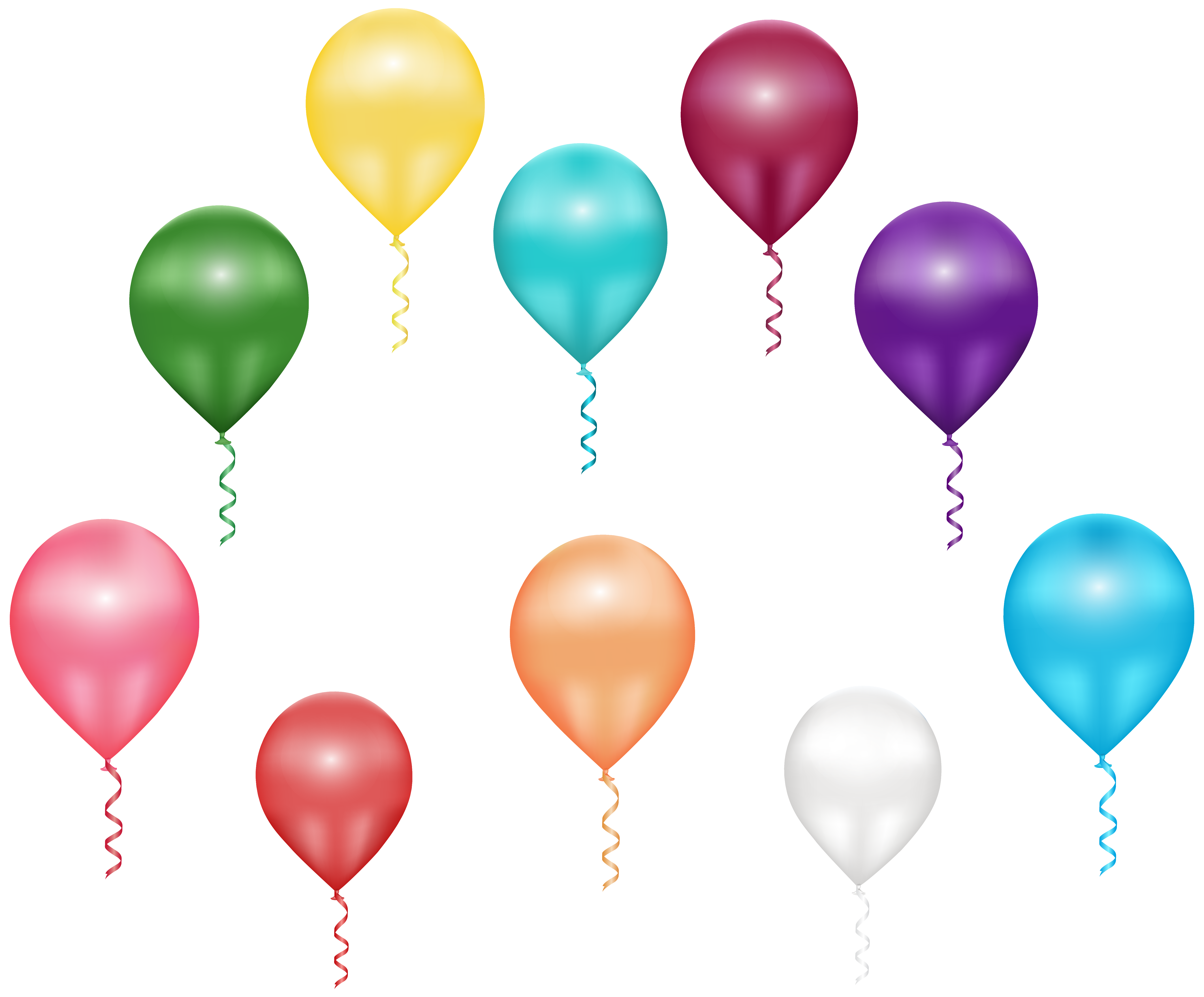 Flying balloons png image. Clipart balloon clip art
