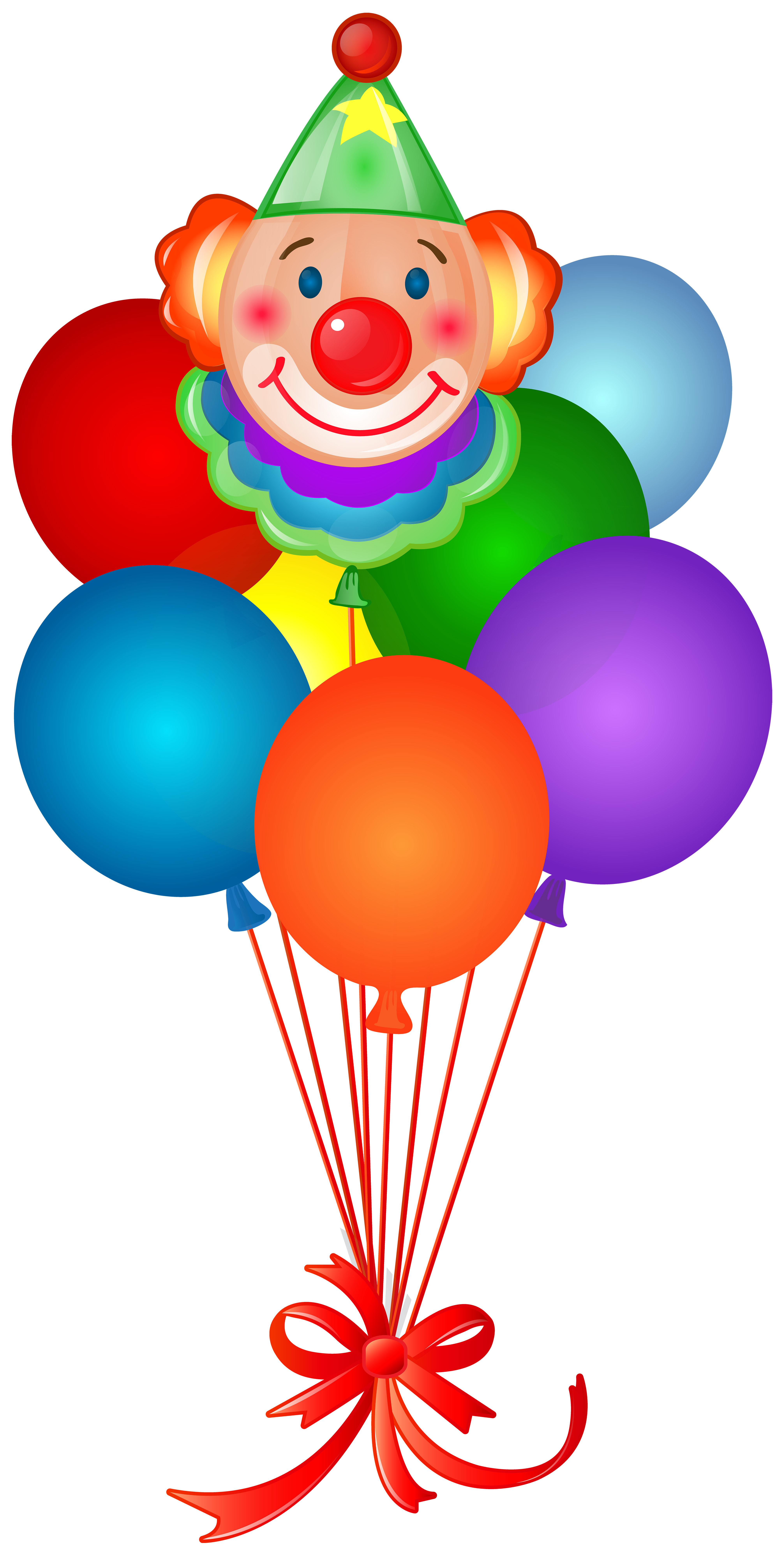 Clown clipart bow. Birthday balloons with png