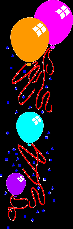Balloons free stock photo. Clipart birthday corner