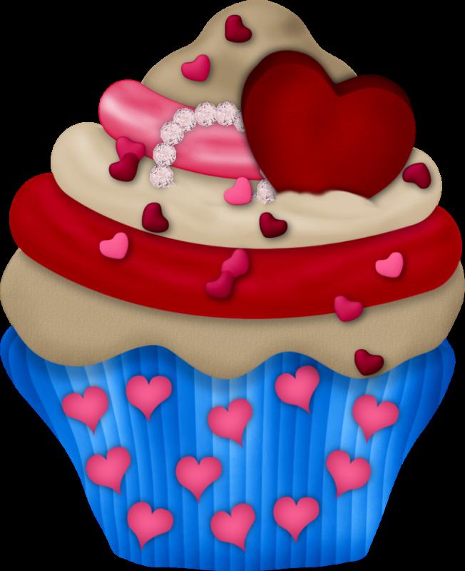 Clipart heart cake. Cupcake bolos e etc