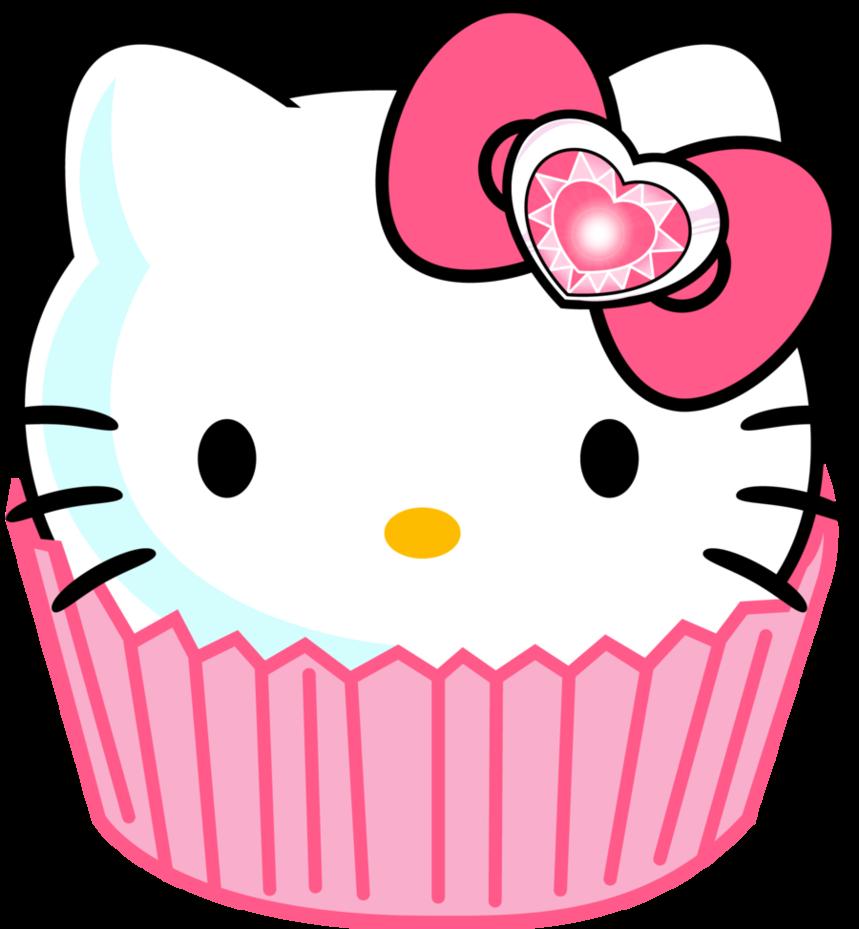 Clipart skull cupcake. Hello kitty border clip