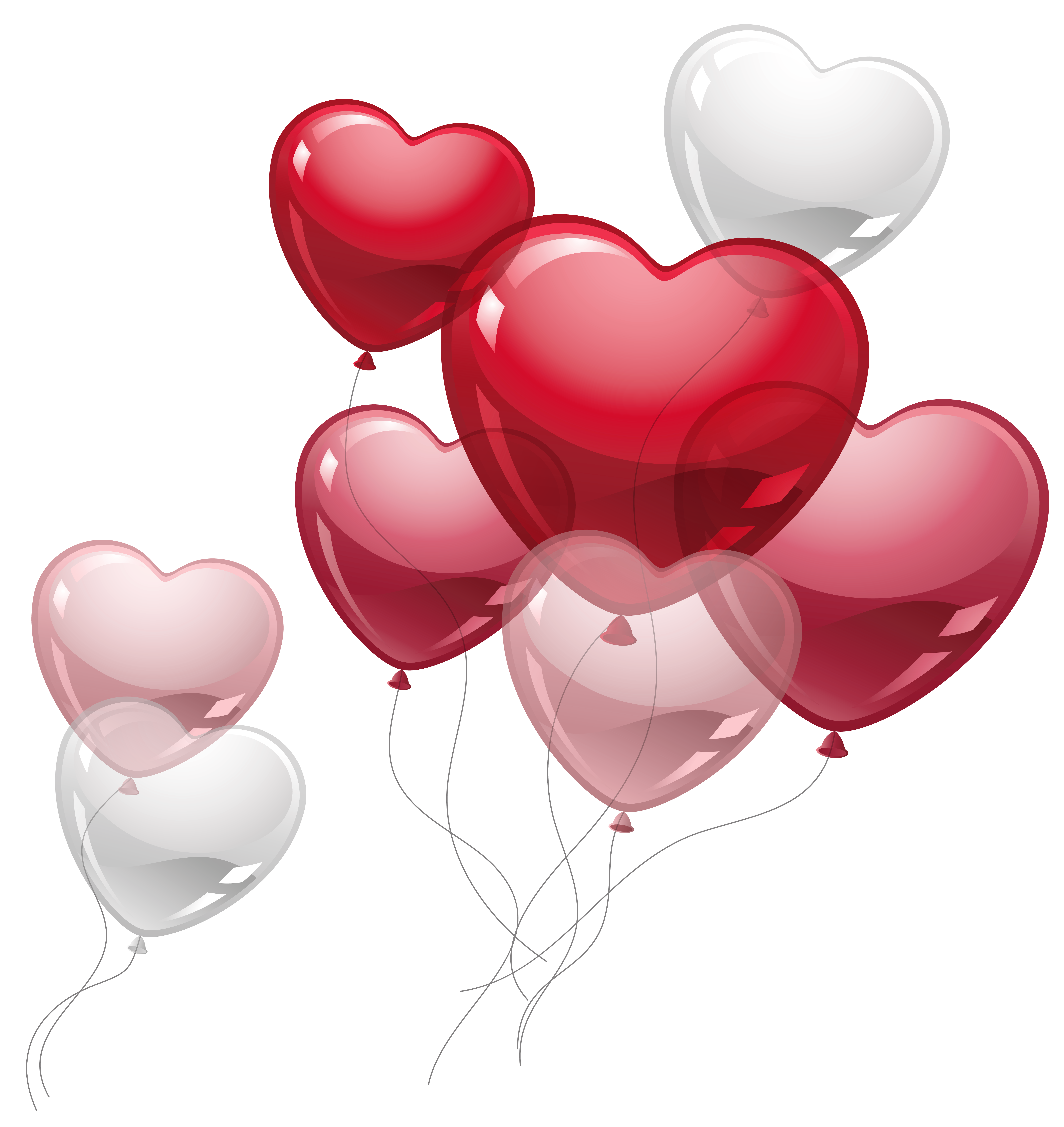 Heart balloons clipart picture. Cute hearts png