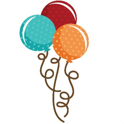 Clipart balloon cute. Polka dot bouquet svg