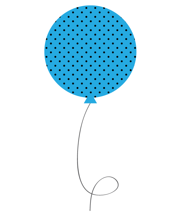 Polka balloon . Dot clipart light blue