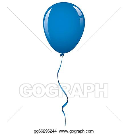 Clipart balloon dark blue. Stock illustration ribbon clip