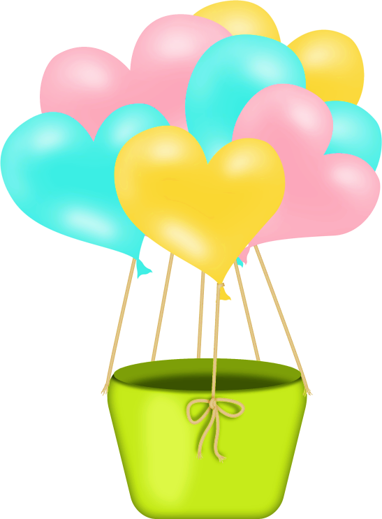 Hearts clipart hot air balloon. Pin by luna christensen