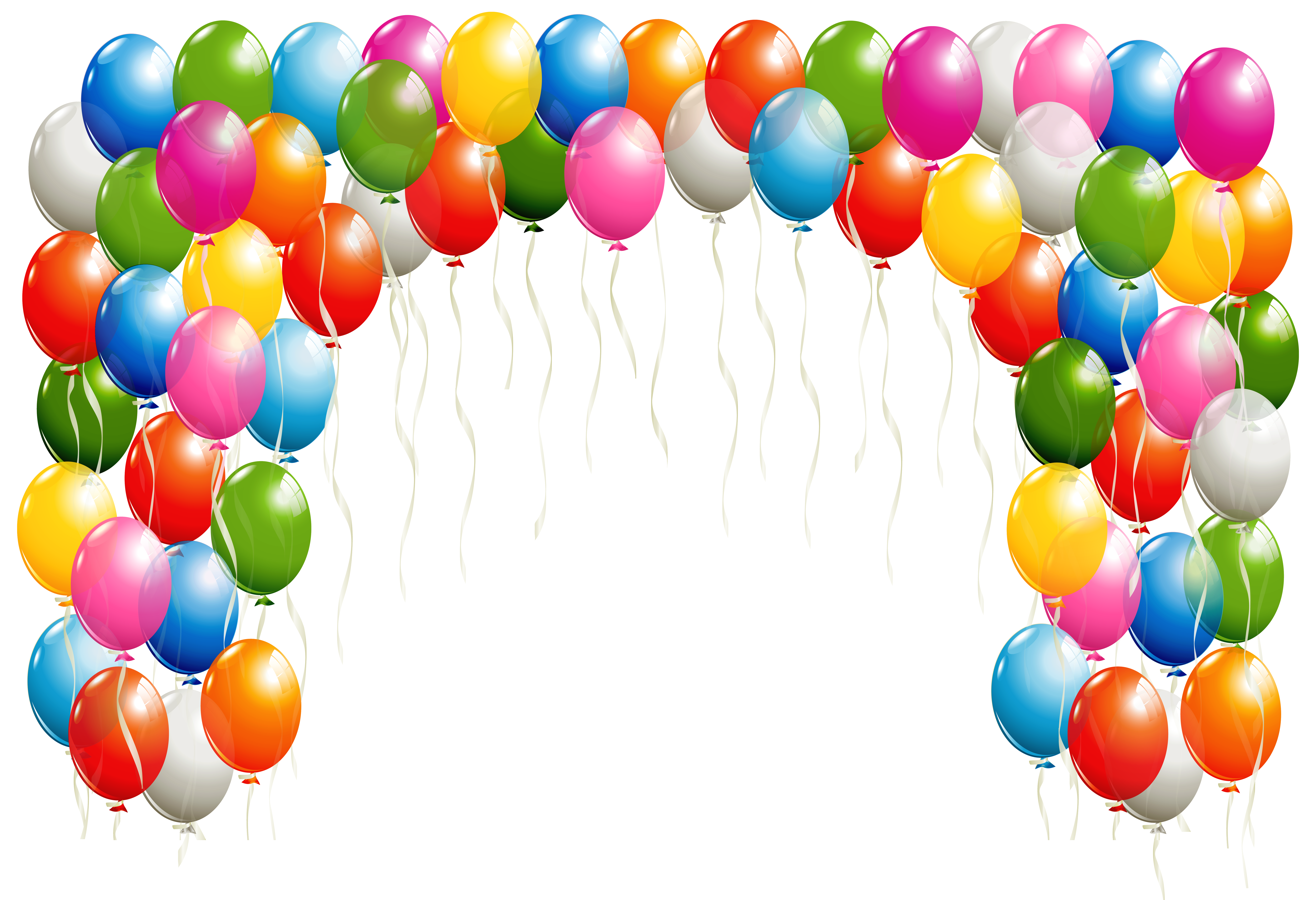 Transparent balloons arch image. Clipart balloon elegant