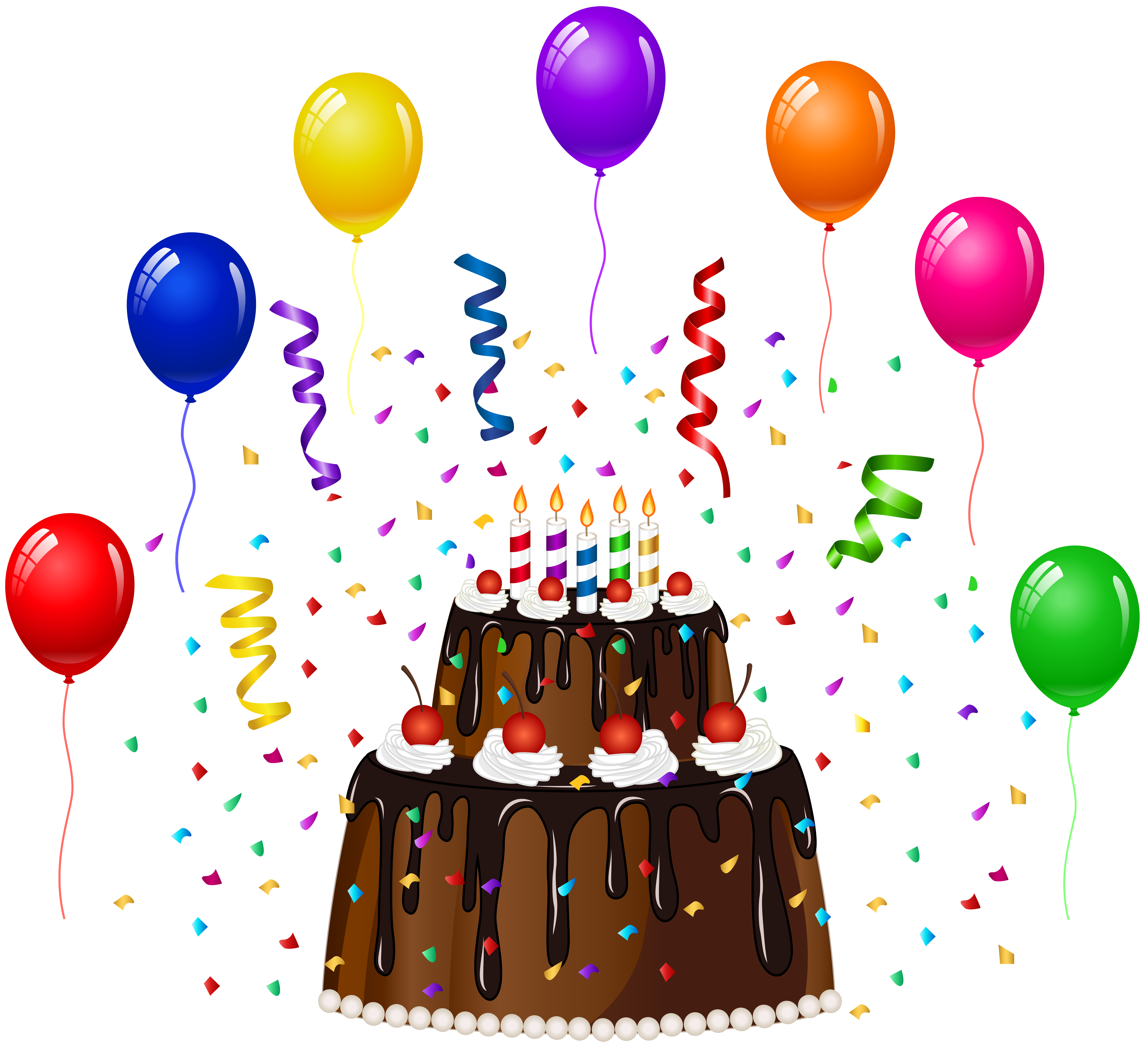 Birthday cake with confetti. Tired clipart lack energy