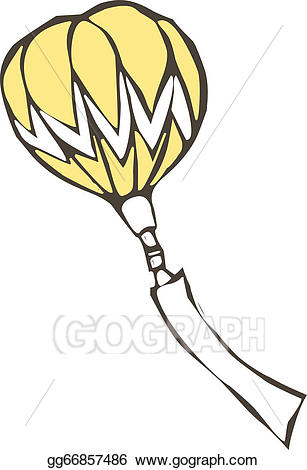 Vector a with placard. Clipart balloon fire