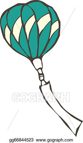 Clipart balloon fire. Vector a with placard