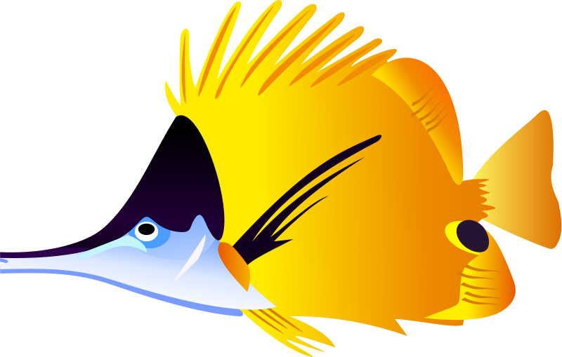 Clipart balloon fish. Tropical clip art for