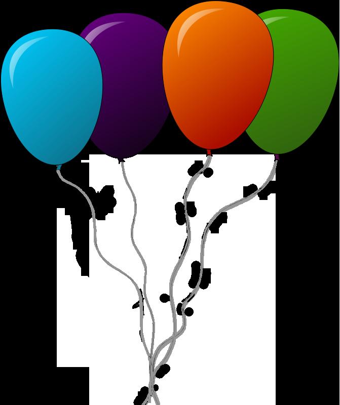 Pop clipart cartoon balloon. Four balloons png diffrent