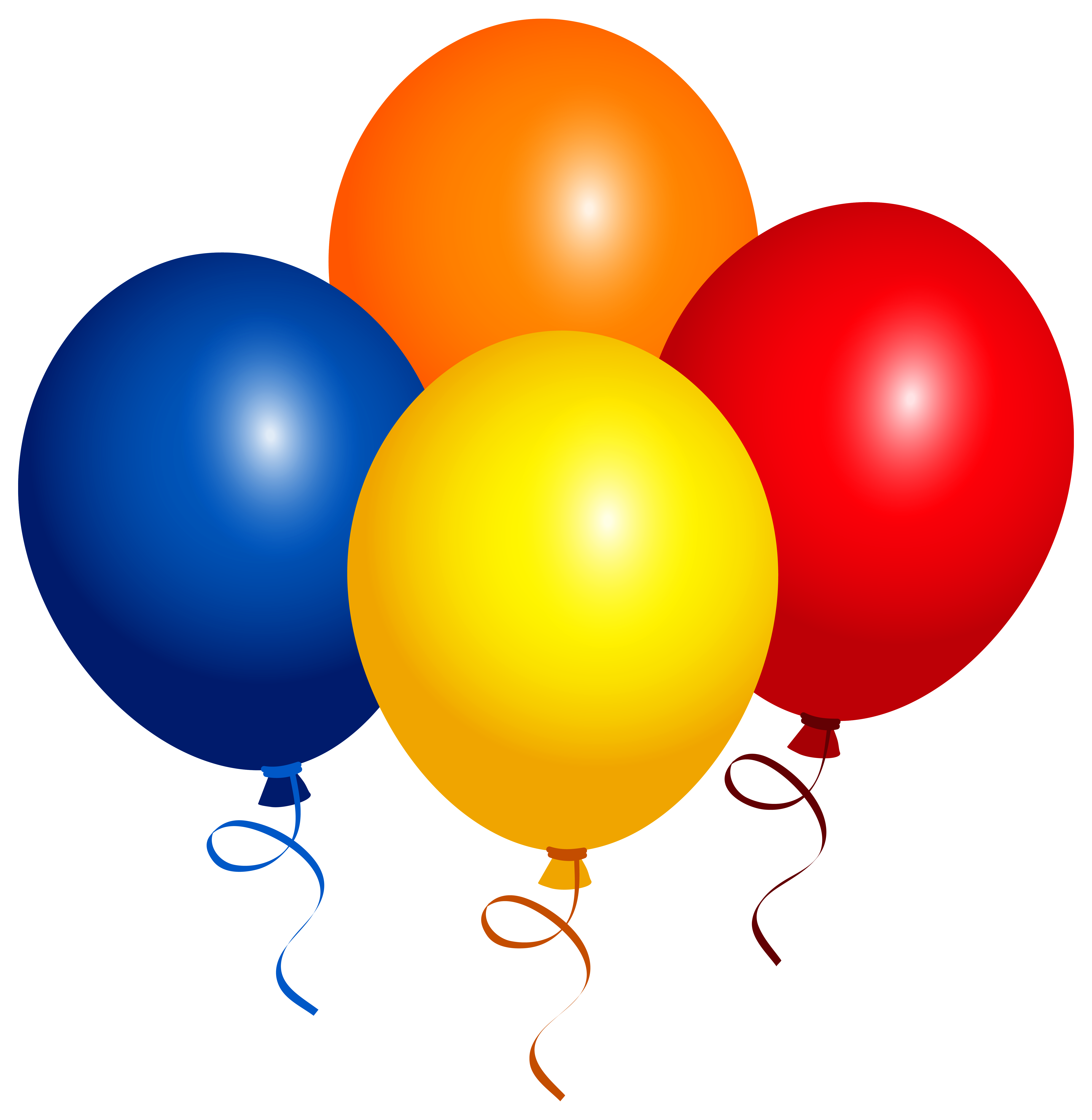 Clipart balloons four. Png image gallery yopriceville