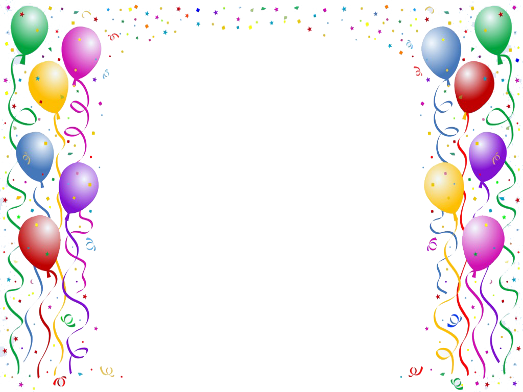 Birthday border png google. Clipart balloon frame