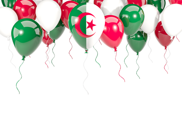 Clipart balloon frame. With flag illustration of