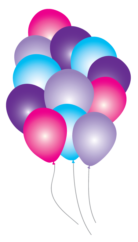 Disney balloons party pack. Frozen clipart balloon