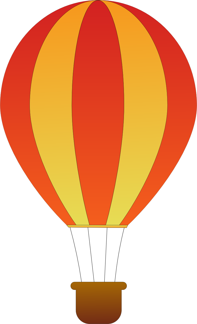 Parachute clipart air ballon. Vintage hot balloon clip