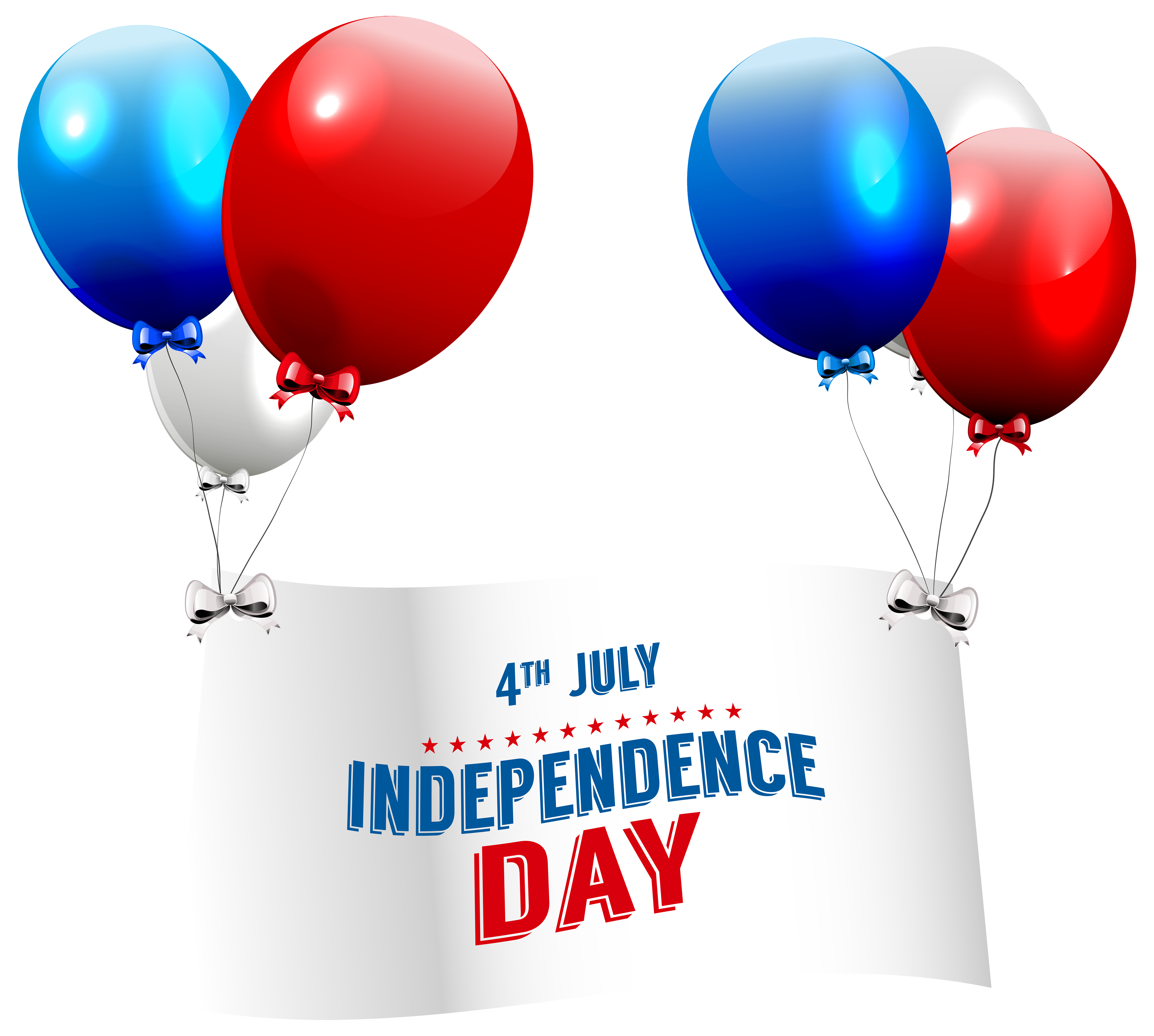 Clipart balloon gate. Independence day with balloons