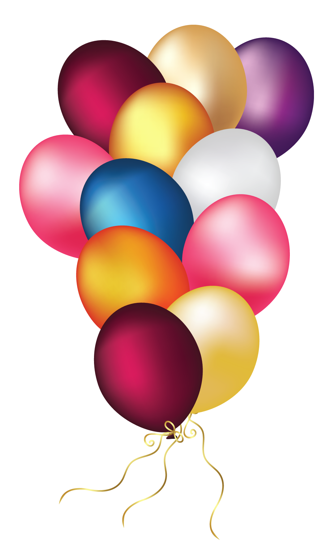 Colorful balloons transparent png. Clipart balloon gate