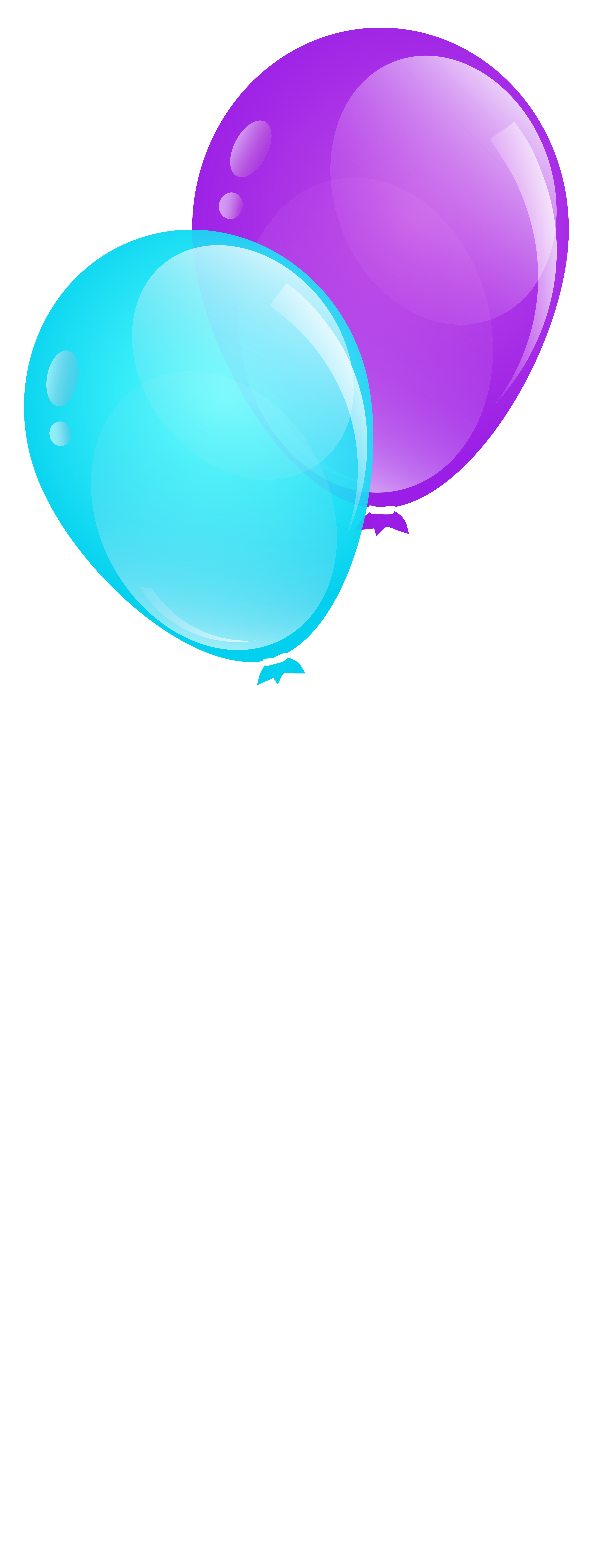 Blue and purple balloons. Clipart balloon gate