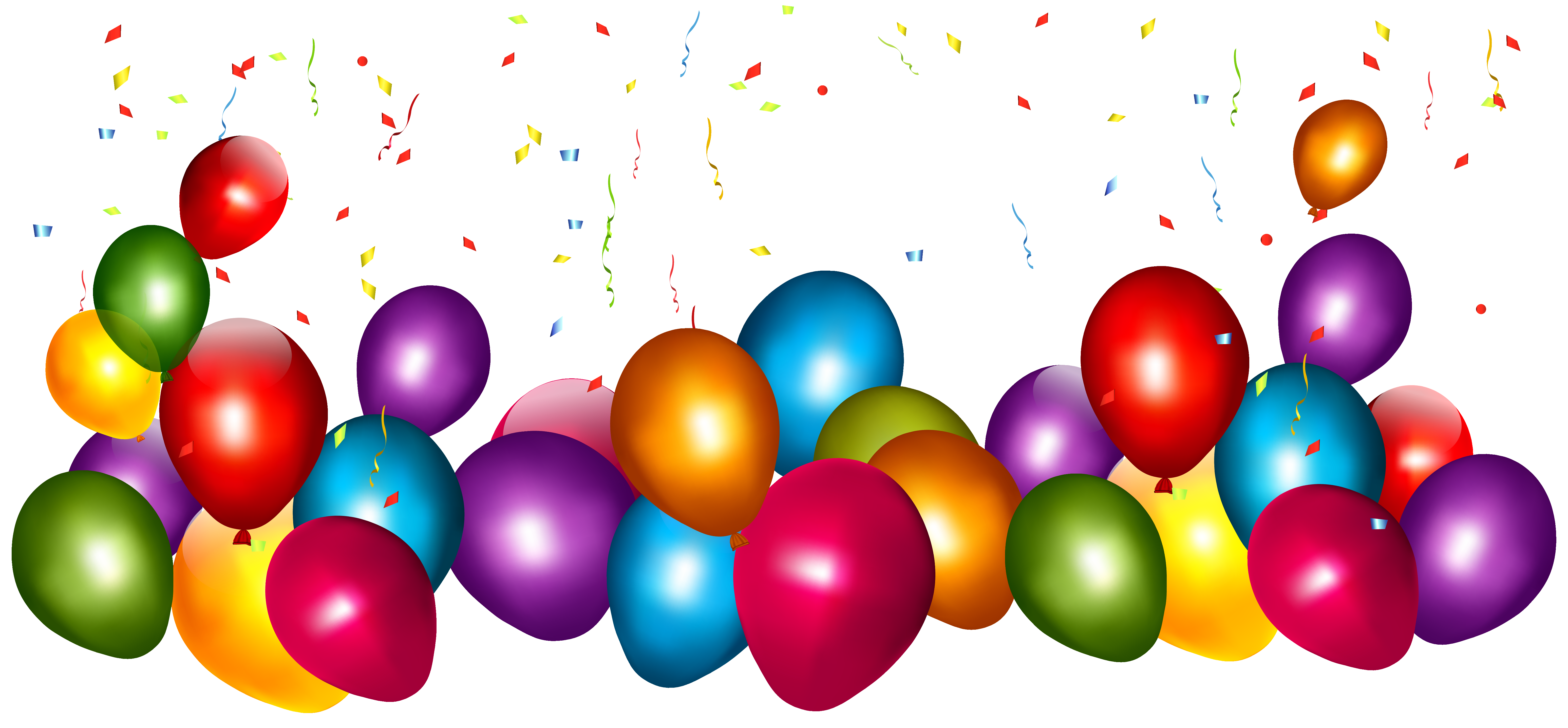Transparent colorful balloons with. Clipart balloon glitter