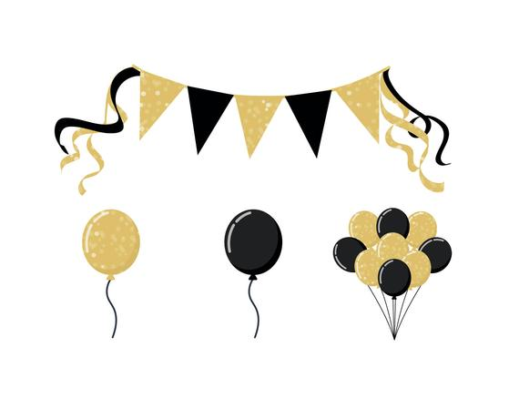 Clipart balloon gold glitter. Party glittery icons products