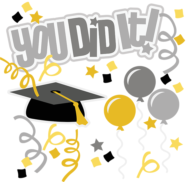 You did it svg. Preschool clipart graduation