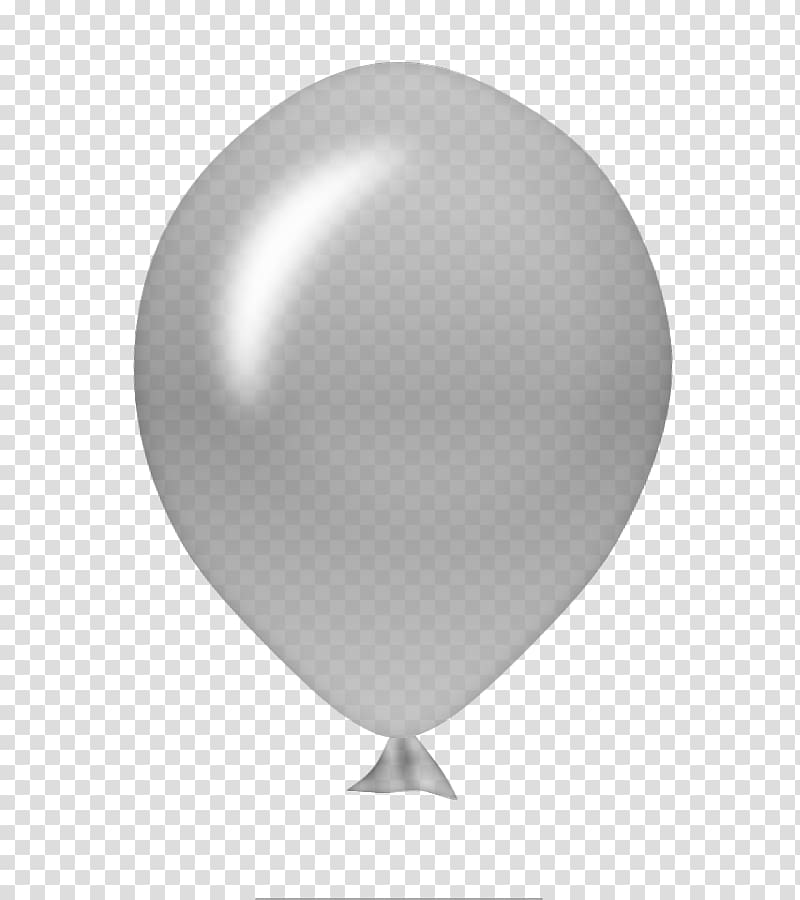 Clipart balloon grey. White black sphere transparent