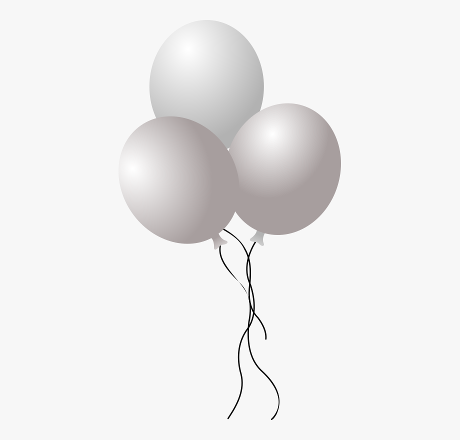 Balloons transparent white png. Clipart balloon grey