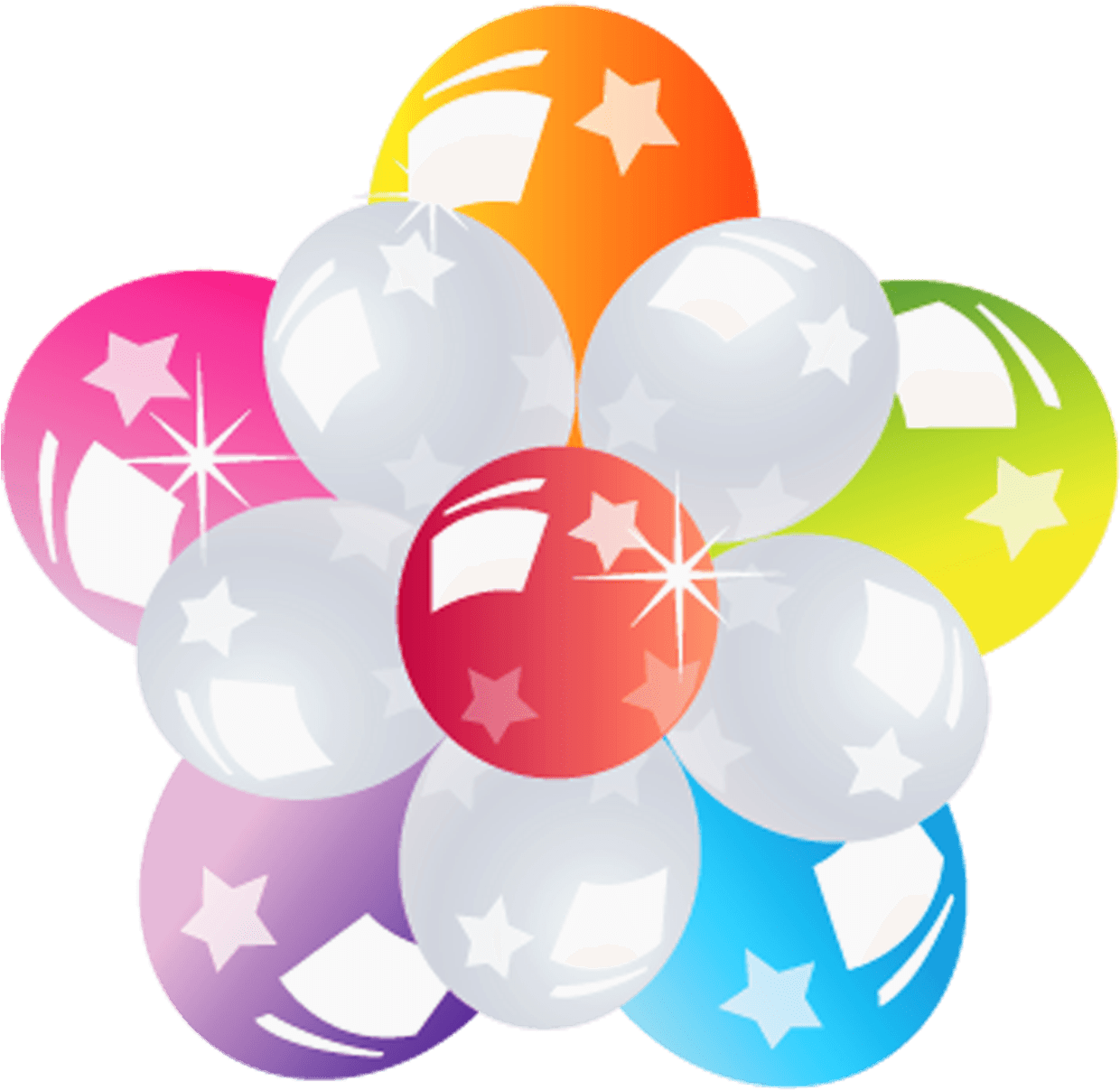 Clipart balloons transparent background. Flower of png stickpng