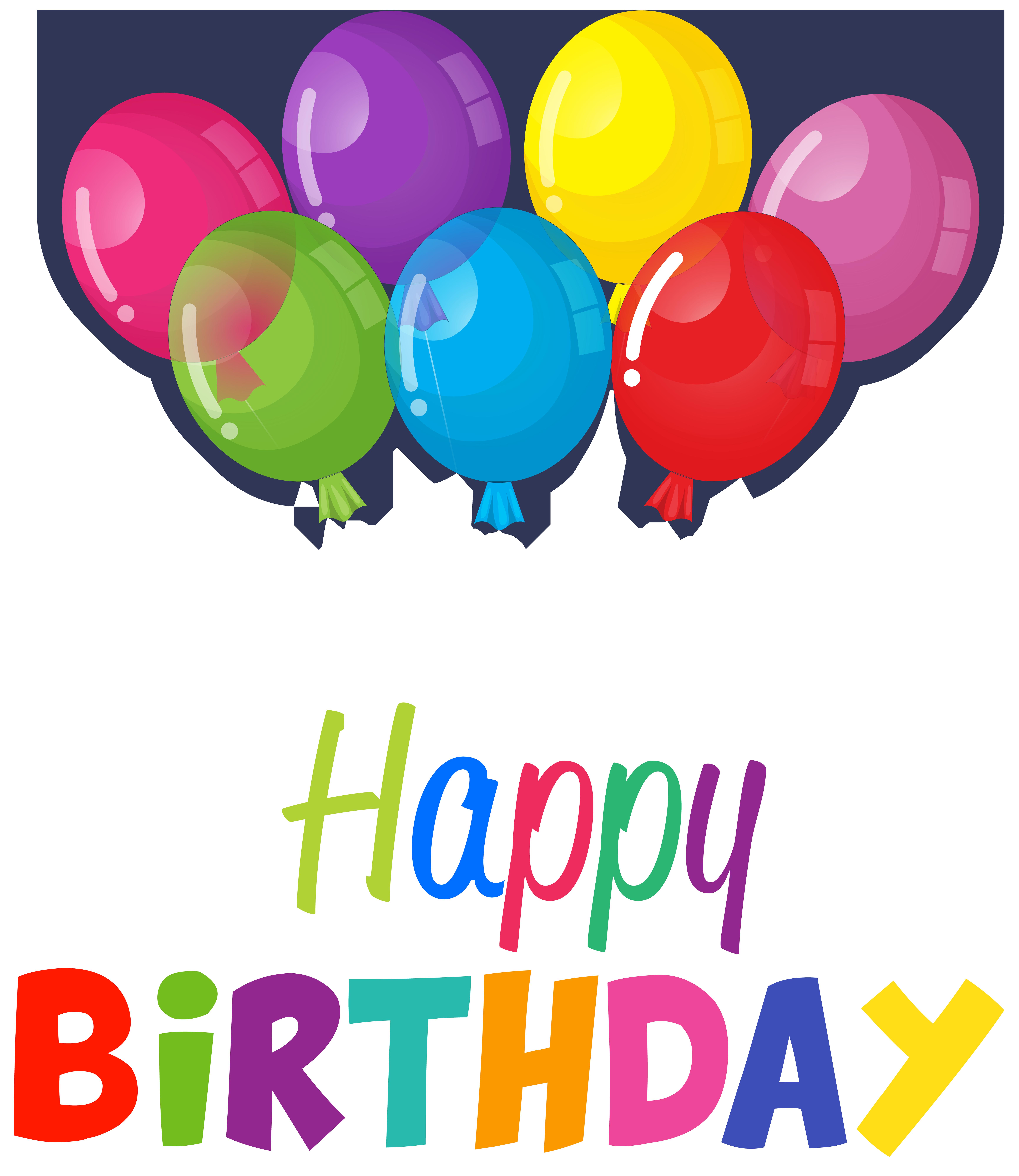 Birthday balloons clip art. Clipart happy balloon