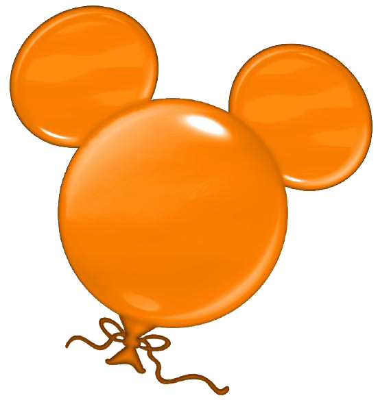 Clipart balloon head. Orange mickey disney pinterest