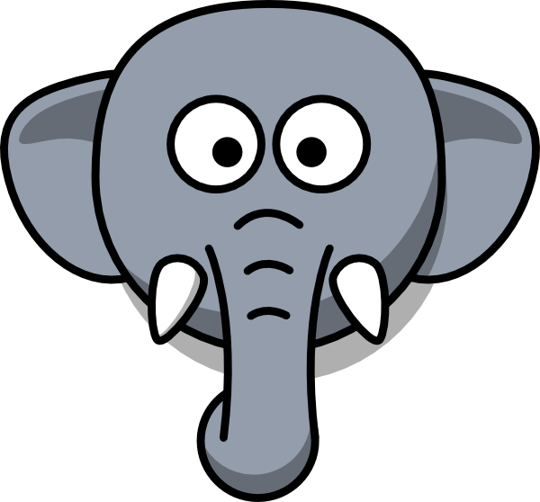 Head silhouette at getdrawings. Face clipart baby elephant