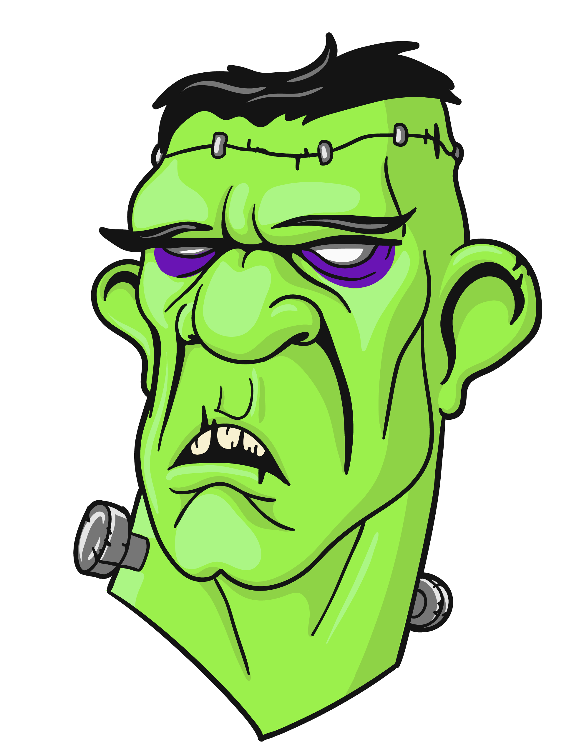 Head png gallery yopriceville. Stitch clipart frankenstein