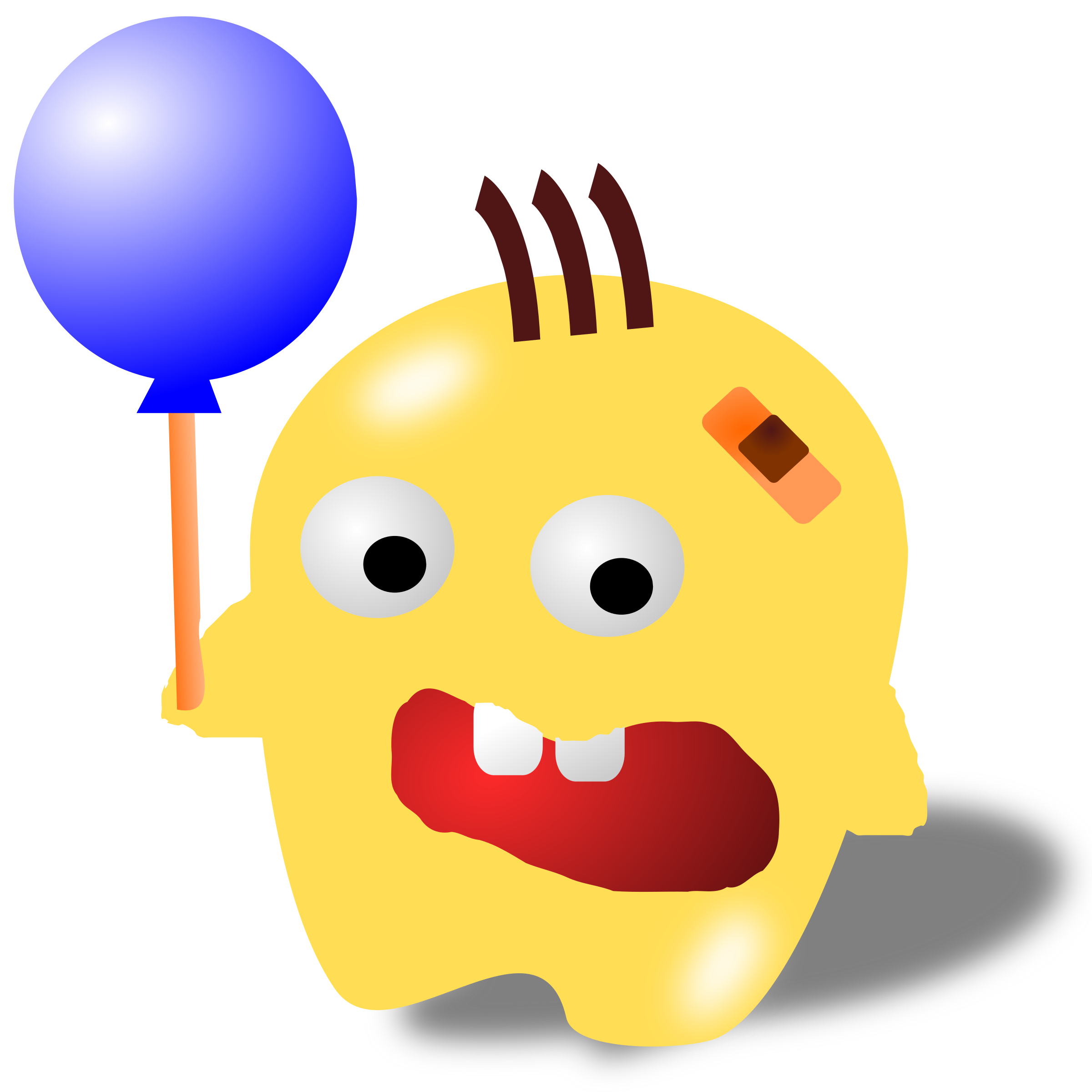 Clipart balloon head. Monster with a big
