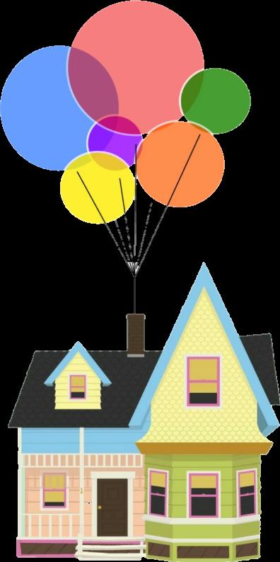 clipart balloon house