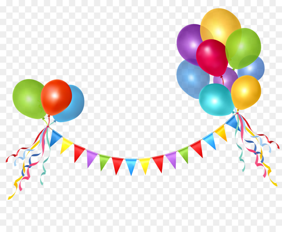 Clipart balloon line. Birthday party background
