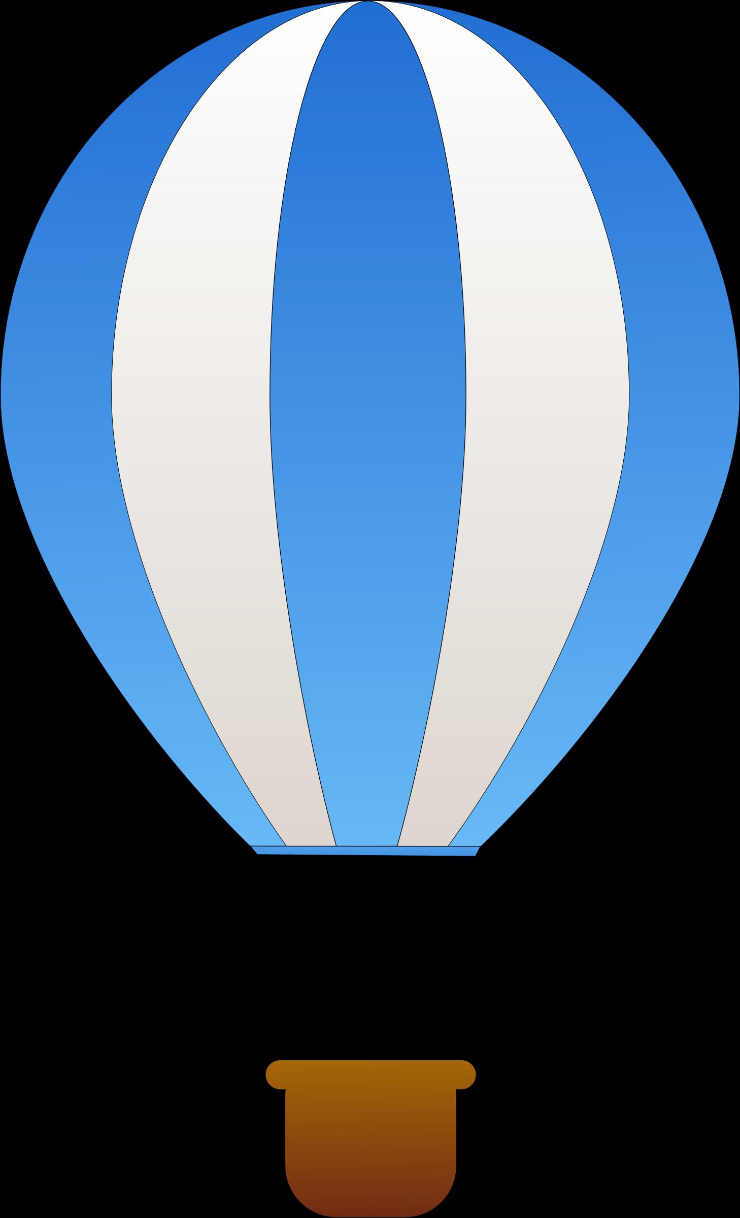 Vertical striped air balloons. Hot clipart cartoon