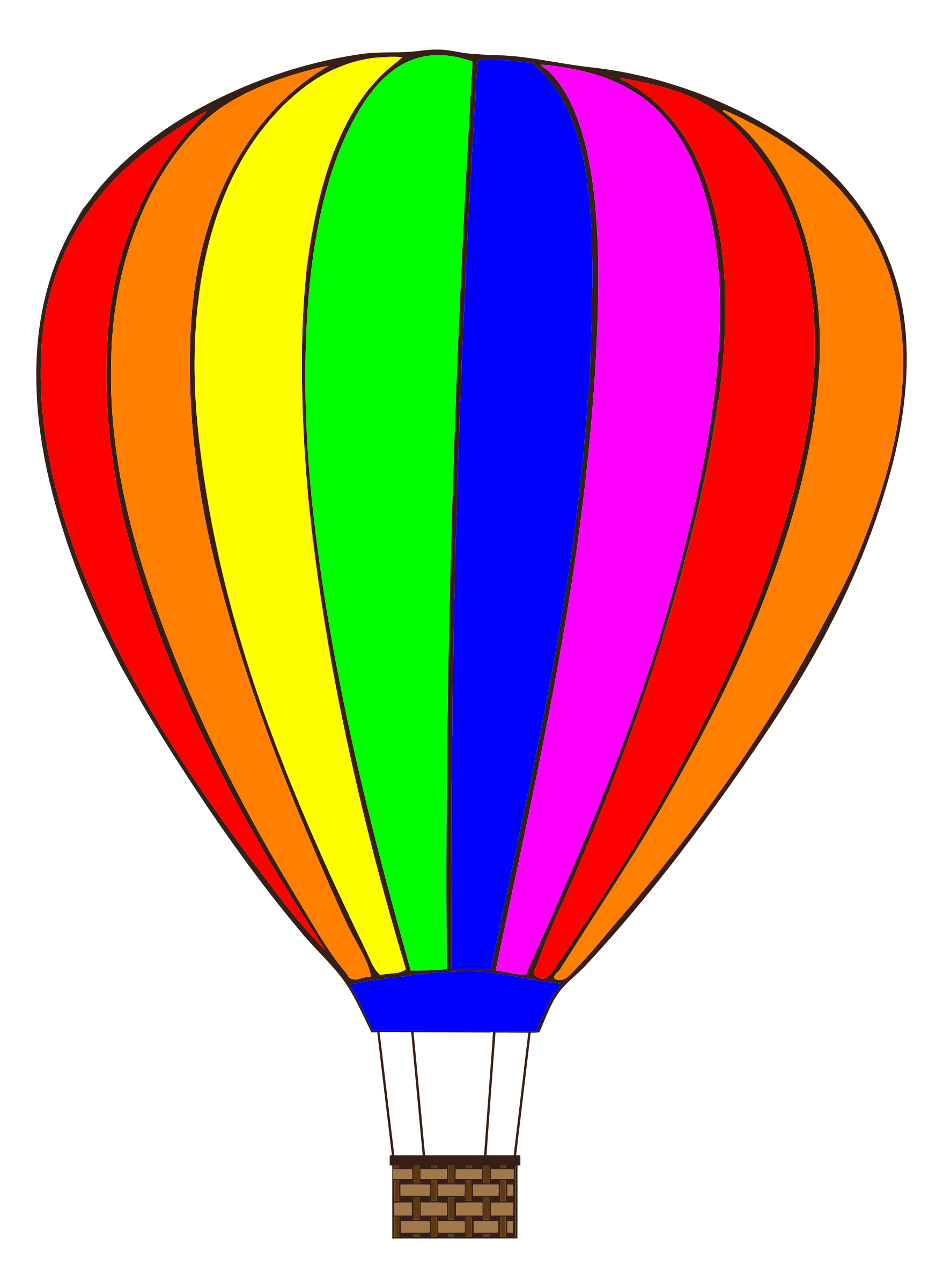 Hot air with saturated. Clipart balloon line
