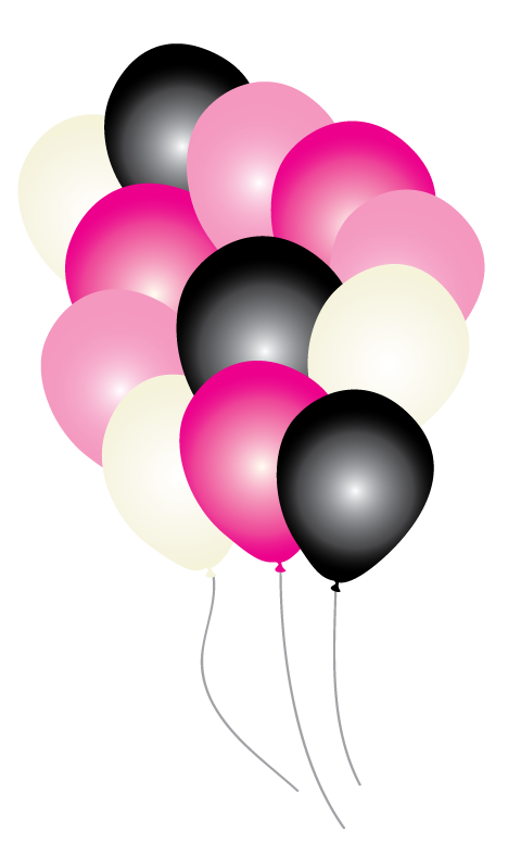 Pink Paris Party Balloons pk