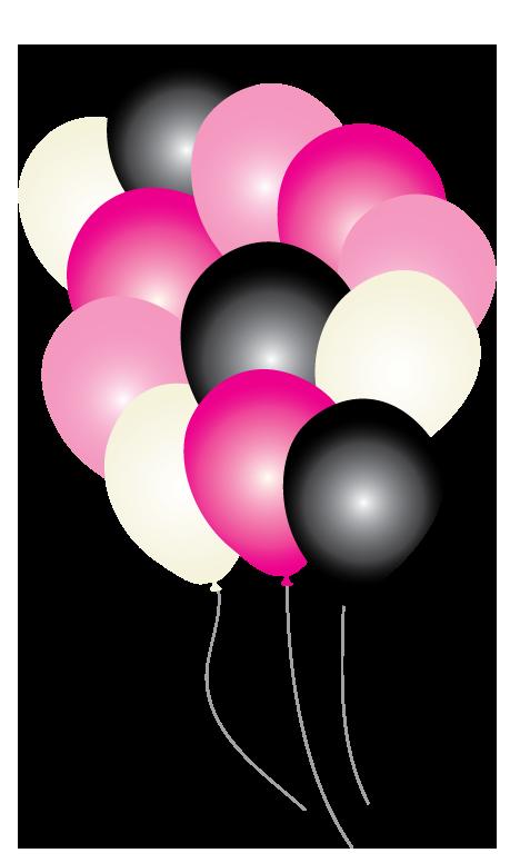 Pink paris party balloons. Clipart balloon magenta