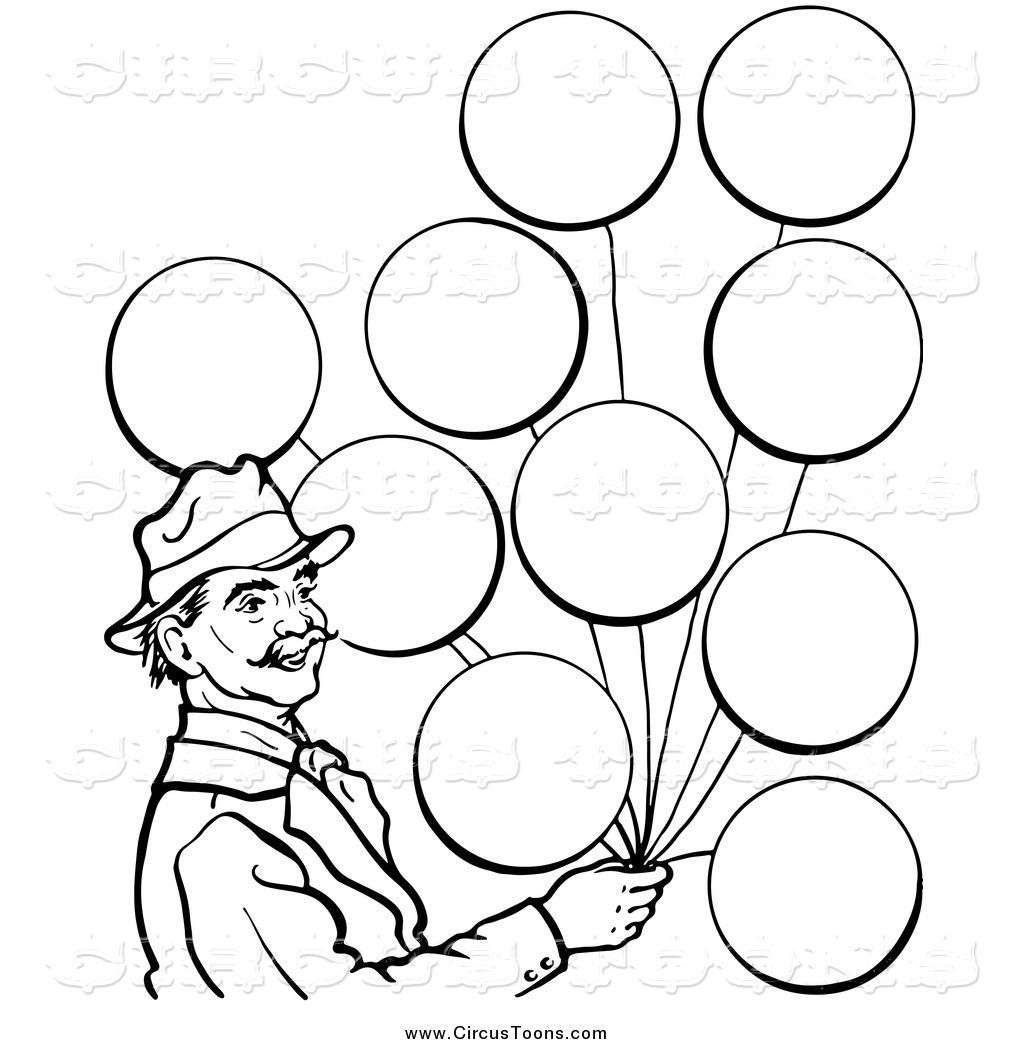 Clipart balloon man. Circus of a black