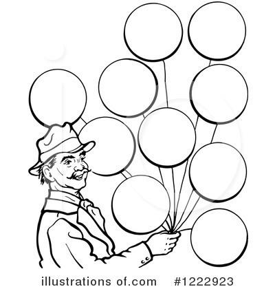 Balloons illustration by picsburg. Clipart balloon man