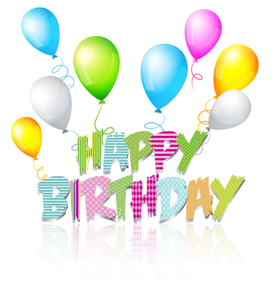 Party Coloured Happy Birthday Text PNG Clip Art Image