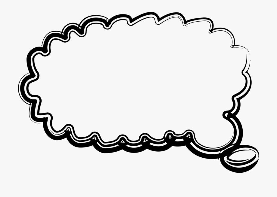 Computer icons thought speech. Clipart balloon message